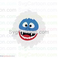 Abominable Rudolph Snowman Face Svg Dxf Eps Pdf Png