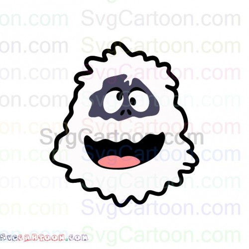 Abominable Snowman Rudolph Funny Face Svg Dxf Eps Pdf Png