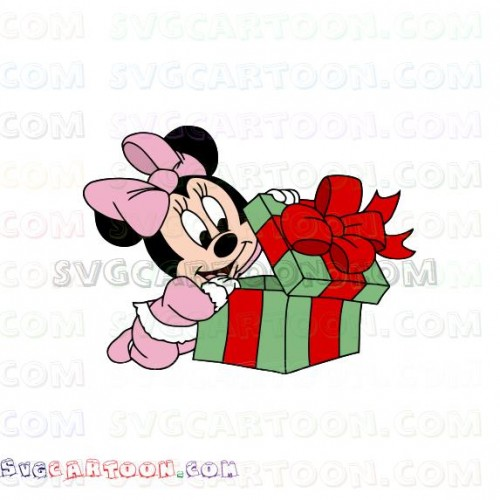 Baby Minnie Mickey Mouse Christmas Svg Dxf Eps Pdf Png