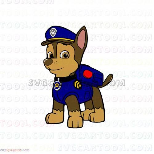 Paw patrol svg. Chase dxf eps pdf