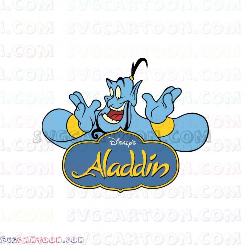 Genie With Logo Aladdin Svg Dxf Eps Pdf Png