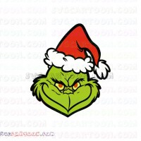Grinch Face Christmas Svg Dxf Eps Pdf Png