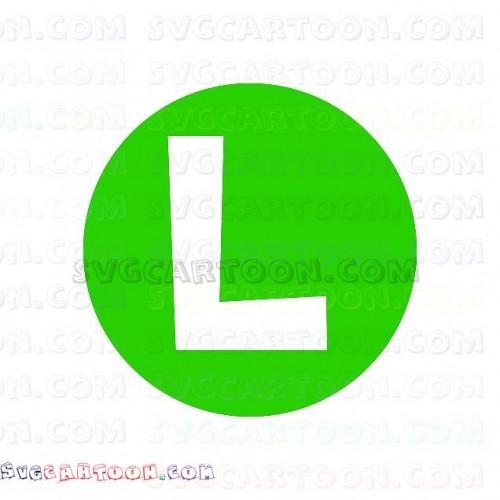 Luigi logo L Super Mario Bros svg dxf eps pdf png