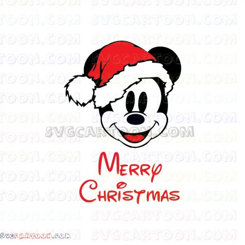 Mickey Mouse Santa Merry Christmas Svg Dxf Eps Pdf Png