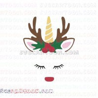 Unicorn Face Head Svg Dxf Eps Pdf Png