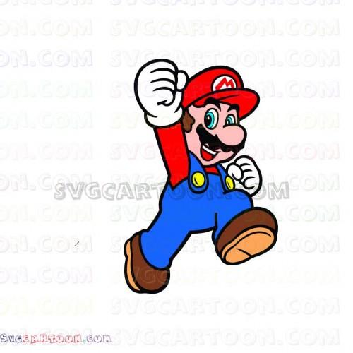 Mario jumping. Super svg dxf eps