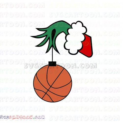 The Grinch Hand Christmas Baseball Dr Seuss The Cat In The Hat Svg Dxf Eps Pdf