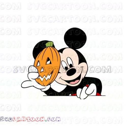 Mickey Mask Pumpkin Svg Dxf Eps Pdf Png