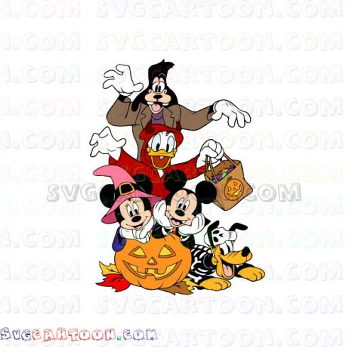Halloween Friends Shirt Svg.Mickey Mouse Friends Halloween Svg Dxf Eps Pdf Png