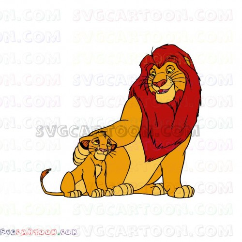 mufasa and baby simba the lion king 4 svg dxf eps pdf png